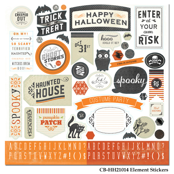 Happy Haunting Element Stickers