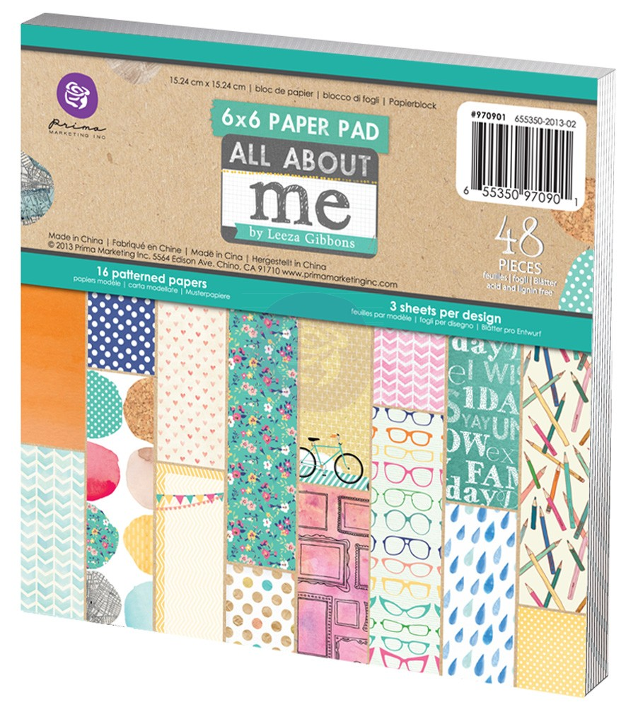 Prima Leeza Gibbons All About Me 6x6 Paper Pad