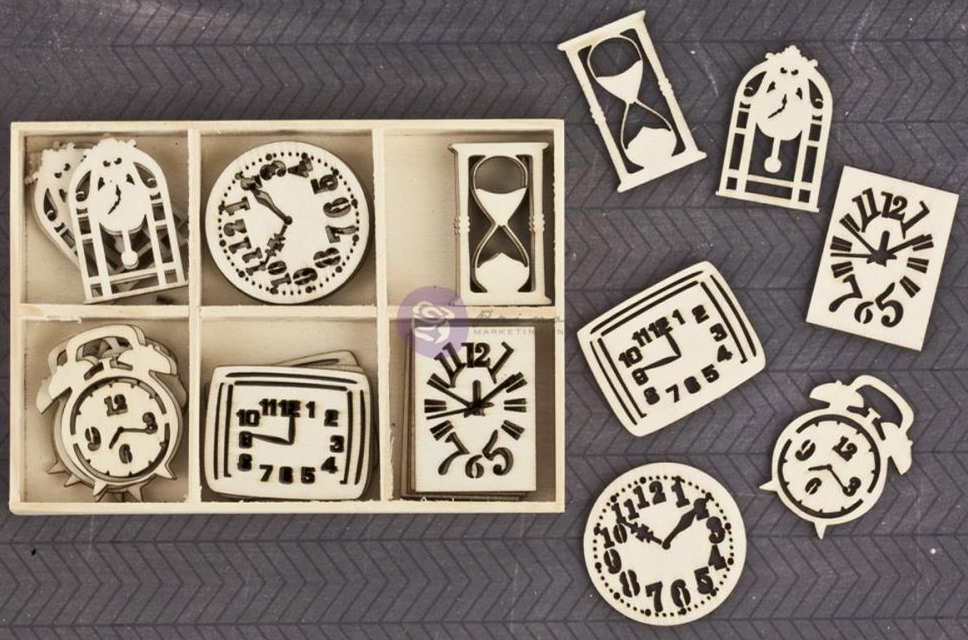 Prima Wood Embellishments - Clocks