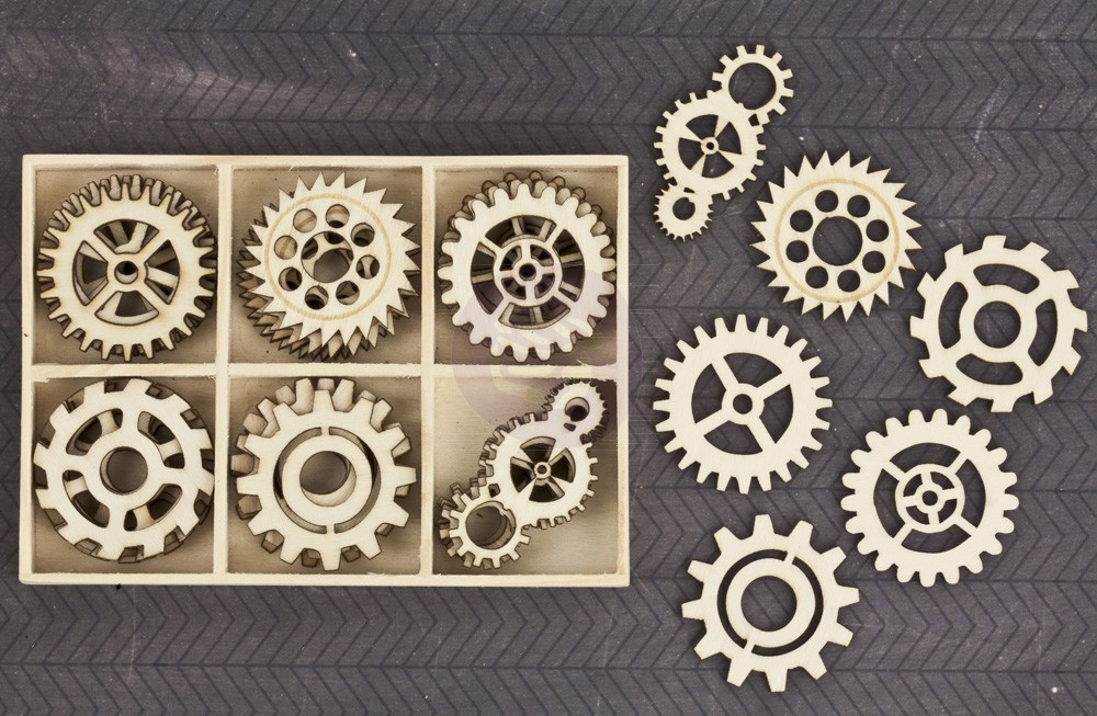 Prima Wood Embellishments - Cogs
