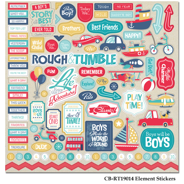 Rough and Tumble - Element Stickers