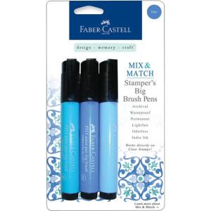 Faber-Castell Stampers Big Brush Pens - Blue