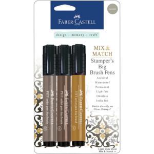 Faber-Castell Stamper's Big Brush Pens - Neutral