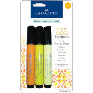 Faber-Castell Stampers Big Brush Pens - Yellow