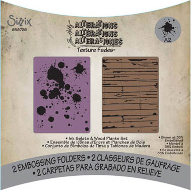 Tim Holtz Embossing Folders Ink Splats and Wood Planks