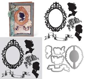 Tim Holtz Framed Silhouettes Framelits and Stamps
