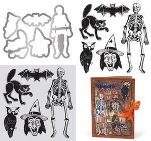 Tim Holtz Retro Halloween Framelits and Stamps