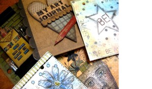 On Saturday Wendy taught art journaling