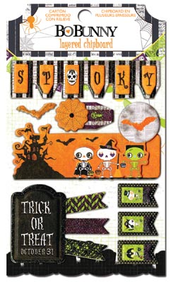Bo Bunny Fright Delight Layered Chipboard