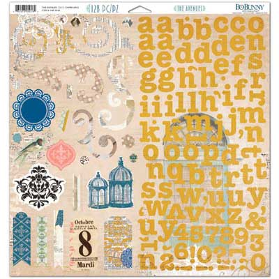 Bo Bunny The Avenues Chipboard Stickers