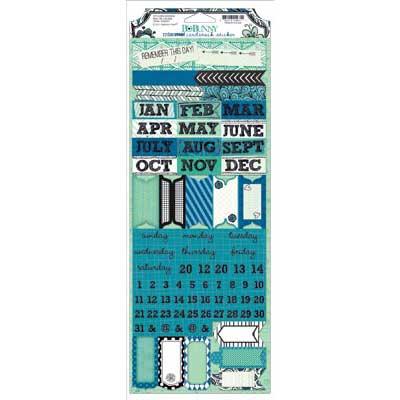 bo bunny zip-a-dee doodle 6x12 cardstock stickers