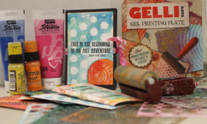 GELLI PLATE PROJECTS 201 with Michelle