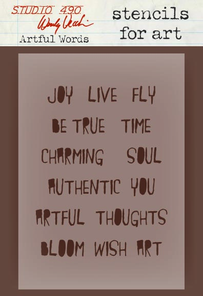 Wendy Vecchi Artful Words stencil