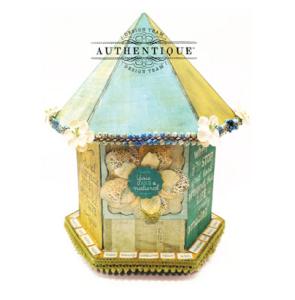 """""""Natural"""" Bird House by Authentique Paper Design Team MemberJohn Petersen"""