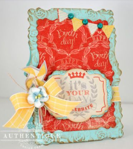 """Wishes"" Card by Authentique Paper design team member Eva Dobilas"