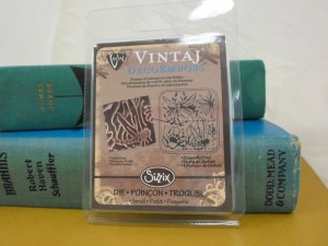 Vintaj metal embossing folder to help you make textures for your project and jewelry making.