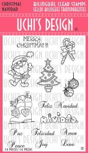 Uchi's Design Spanish and English Stamps