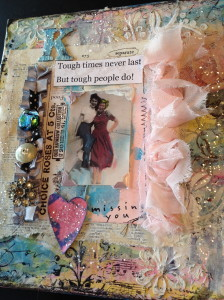 Rescued Relatives Mixed-media Waxed Canvas