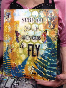 Spread your Wings and Fly Mixed-media Waxed Canvas